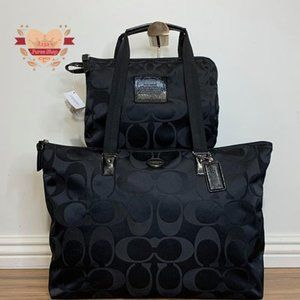 🖤Coach Signature Nylon Bag & Snap Pouch🖤